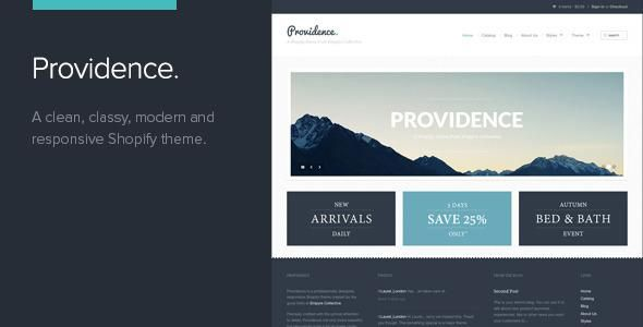 Providence is a beautifully clean, classy and modern Shopify theme that directs attention straight to your products.