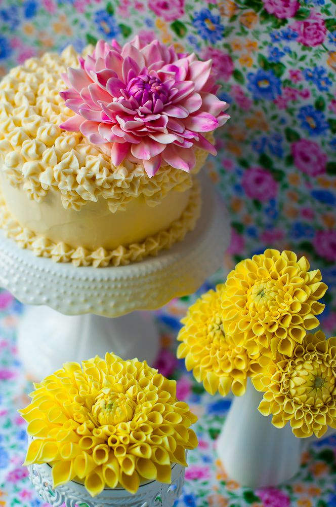 How To Make Sugar Dahlias — Lulu's Sweet Secrets