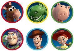 Liz loves Lexi and Arkin: Toy Story Cupcake Toppers