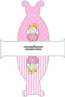 Batizado Menina - Kit Completo com molduras para convites, rótulos para guloseimas, lembrancinhas e imagens!