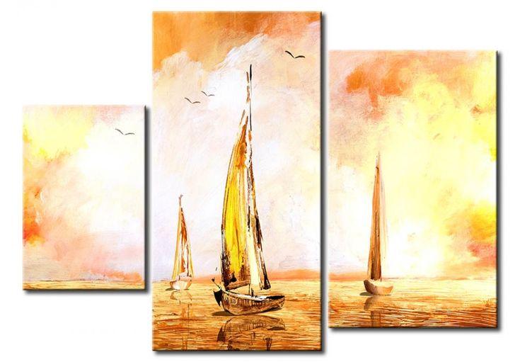 Cuadro Veleros en los reflejos del sol ¡es preciosoooo! Una pizca marítima para hacer nuestro salón todavía mas guapo.