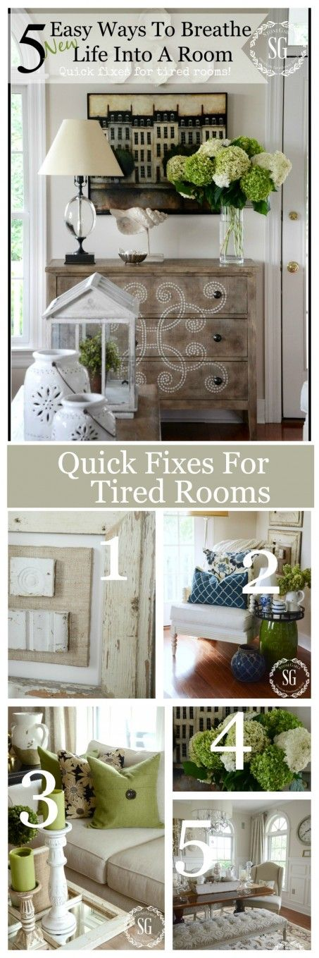 5 EASY WAYS TO BREATHE LIFE INTO A TIRED ROOM- Easy to do and affordable