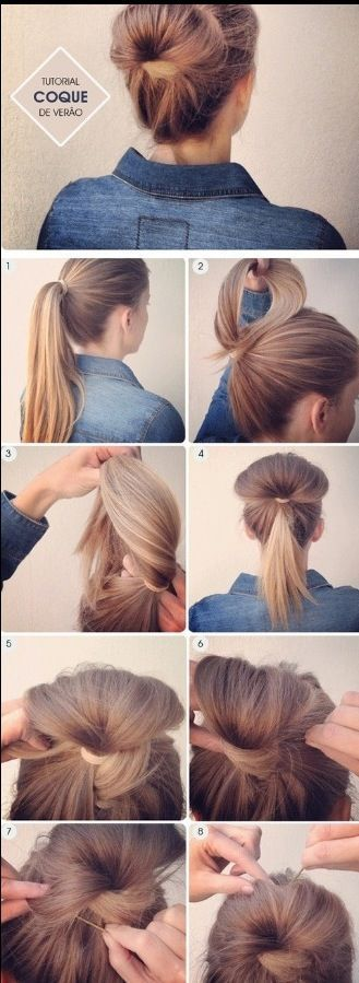 Cute easy bun! Might be fun to try something different. Nail Design, Nail Art, Nail Salon, Irvine, Newport Beach