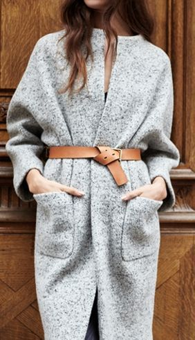 i love this coat and belt together!