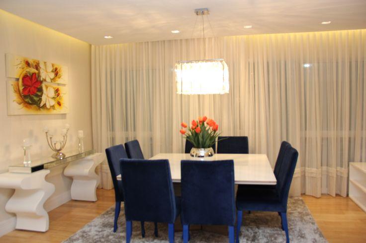 Sala De Jantar Com Laca Branca ~ Sala de jantar  mesa em laca branca e base em madeira carvalho mel e