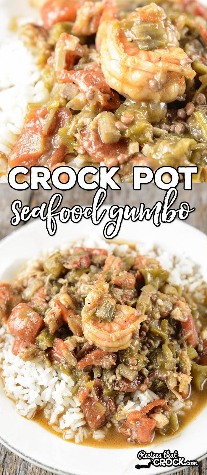 Are you looking for a delicious homemade gumbo recipe? Our Crock Pot Seafood Gumbo is a flavorful mixture of shrimp, crab and crawfish.