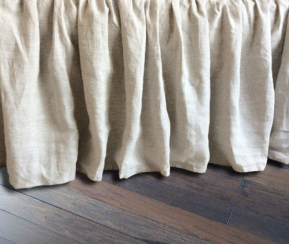 natural linen bedskirt bed ruffles linen dust ruffles bed