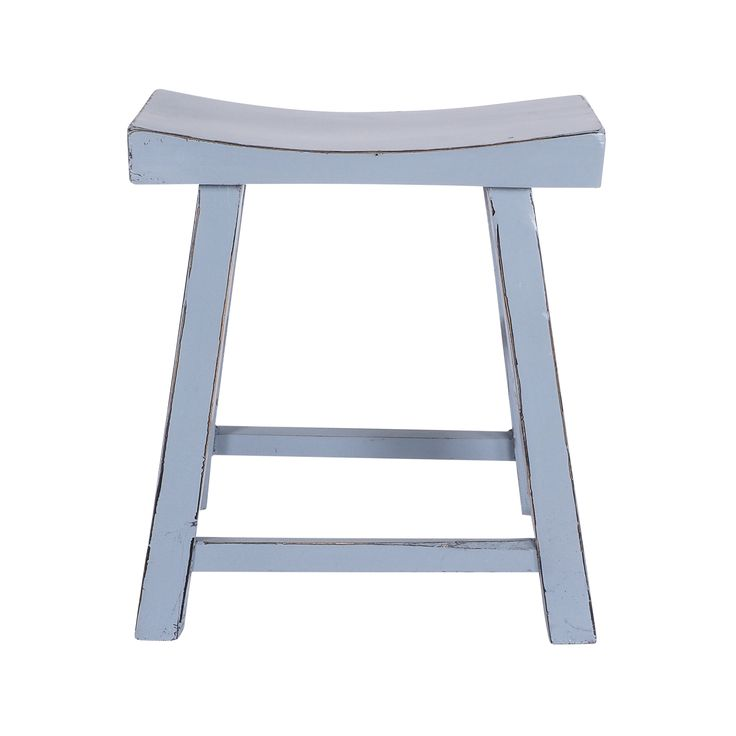Limited Edition Tarquin Vintage Stool -  availabel in White, Black, Azure Blue.