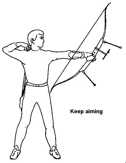 ten basic steps in archery  step 10 - follow through