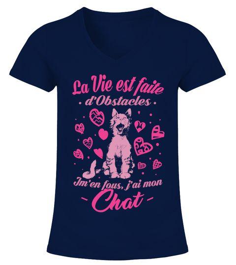 """# Chat - J'ai mon Chat .  La Vie est faite d'Obstacles... Jm'en fous, j'ai mon Chat------------------------------------------------------*** Disponible également enSweat à Capuche=> CliquezICI*** Visitez notreBoutique en Lignepour plus de Choix------------------------------------------------------Edition limitée... Impression sur Tissus de Haute Qualité... Satisfaction 100%Garantie...Paiement entièrement sécurisé viaPAYPAL   VISA   MASTERCARDCliquez sur""""Acheter""""pour Obtenir le…"""