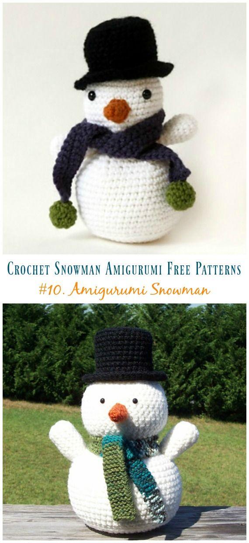 Crochet Snowman Amigurumi Free Patterns | Crochet and Knitting ...