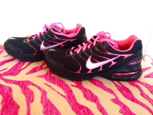 Women's Neon Pink and Black Nike Athletic Shoes Sz 7 | eBay