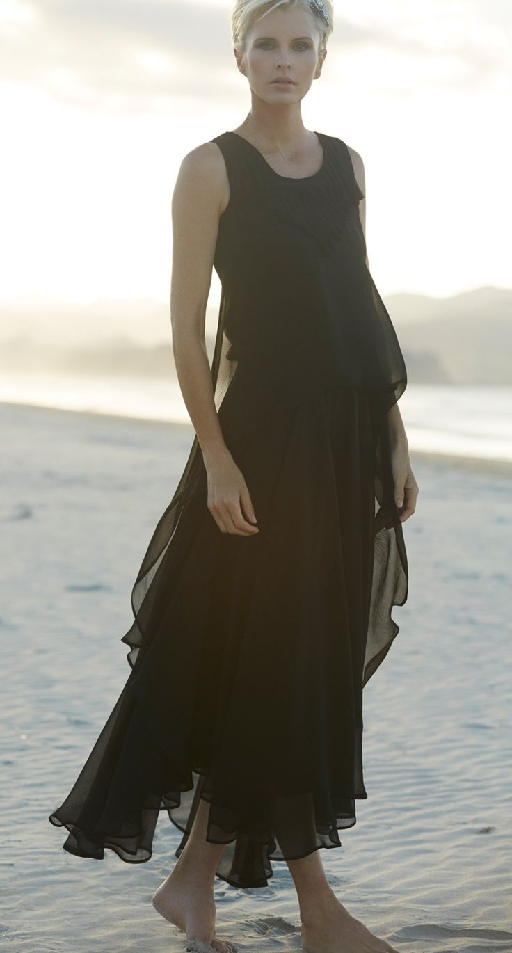 Paula Ryan Tucked Waisted Gown. For light-as-air, special occasion dressing our Tuck Waisted Gown in Pure Silk and Velvet Chiffon will be all you need.