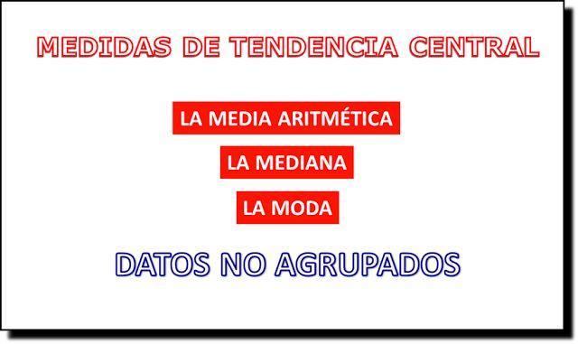 LAS TIC EN LA MATEMÁTICA - FÍSICA: EJEMPLO DE MEDIA, MEDIANA Y MODA PARA DATOS NO AGR...
