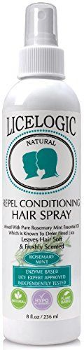Licelogic Repel Conditioning Hairspray, Rosemary Mint, 8