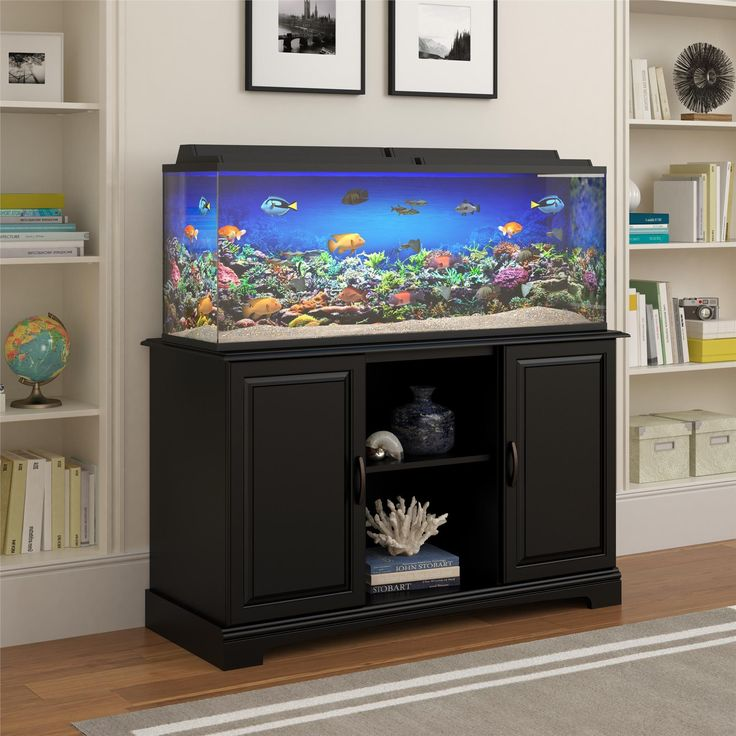 furniture aquarium. store water treatments and other aquarium accessories in this durable altra furniture harbor stand black