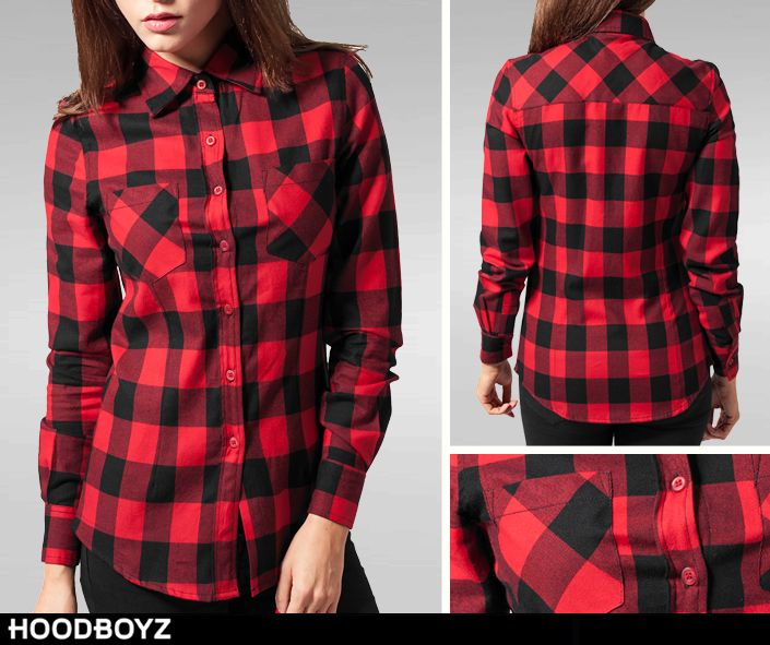 Urban Classics Ladies Checked Flanell Shirt <3  Now only 21,90 € (-27%) ➡ http://bit.ly/1R8eiqk