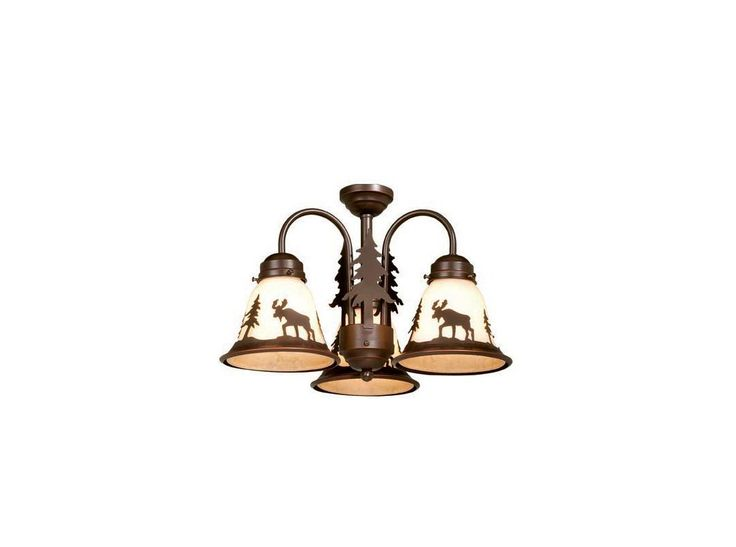 "Vaxcel Lighting LK55616 Yellowstone 16"" Ceiling Fan Light Kit Burnished Bronze Ceiling Fan Accessories Light Kits Light Kits"