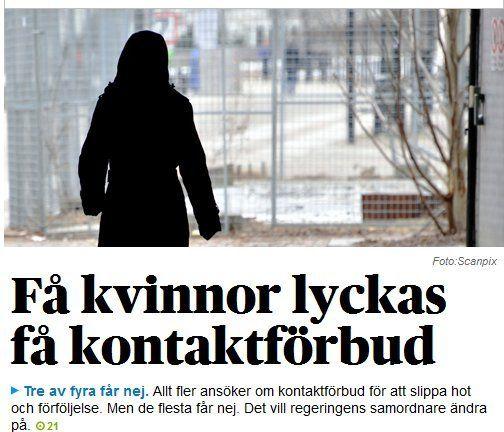 Är det inga män och barn som söker/behöver kontaktförbud i Sverige? | Ann-Mari's Blogg