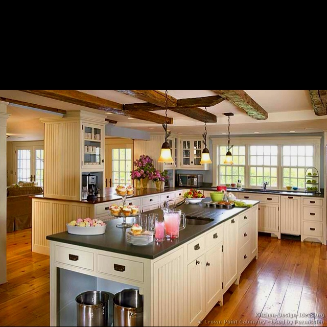 8 Best Beamed Ceilings Images On Pinterest  Wood Beams Exposed Inspiration Country Kitchen Designs 2013 Decorating Inspiration
