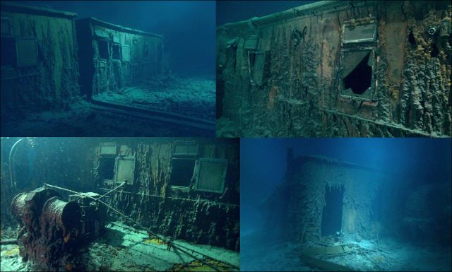 Undersea Photos of the Titanic Wreckage... Could not imagine the feeling and emotion of that day... So Sad