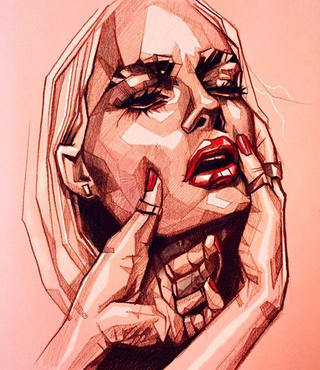 RED HURT♦️ #illustration #drawing #umityanilmaz #woman #face #hair #hurt #red #pain #beautiful #shine #geometric #macro #sharp #art #arrtposts #Cre8hype #worldoftalents #dailyart #artistic_nation #illustrationage #art_prime #phanasu #artoftheday #artofdrawingg #official_artworks #WorldofArtists #illustrateNow #Welkinart #artrevolution