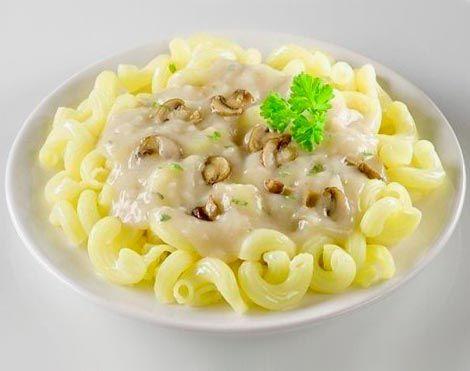Постный грибной соус к макаронам или спагетти с шампиньонами. Фото.