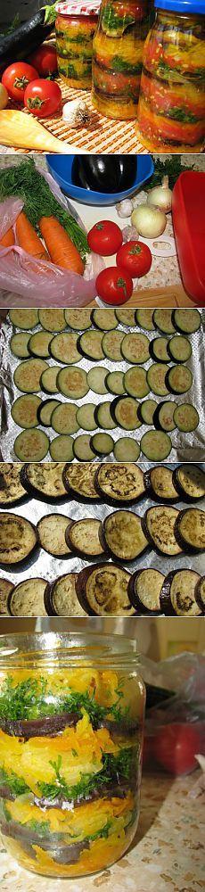 Баклажаны в медовом маринаде : Баклажаны, кабачки