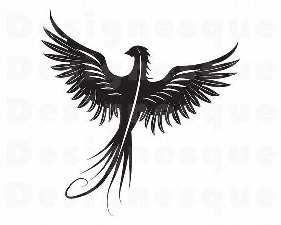 Phoenix Svg Phoenix Bird Svg Phoenix Clipart Phoenix Files Etsy Phoenix Vector Phoenix Bird Bird Silhouette