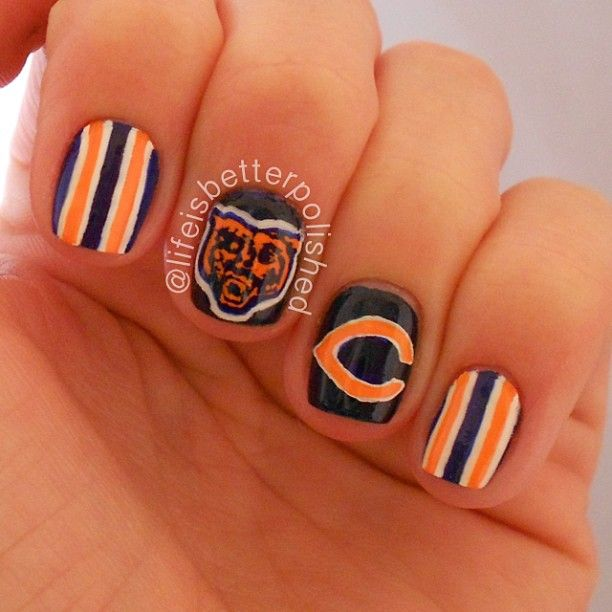 33 best Chicago Bears Makeup Hair & Nails images on Pinterest | Bear ...