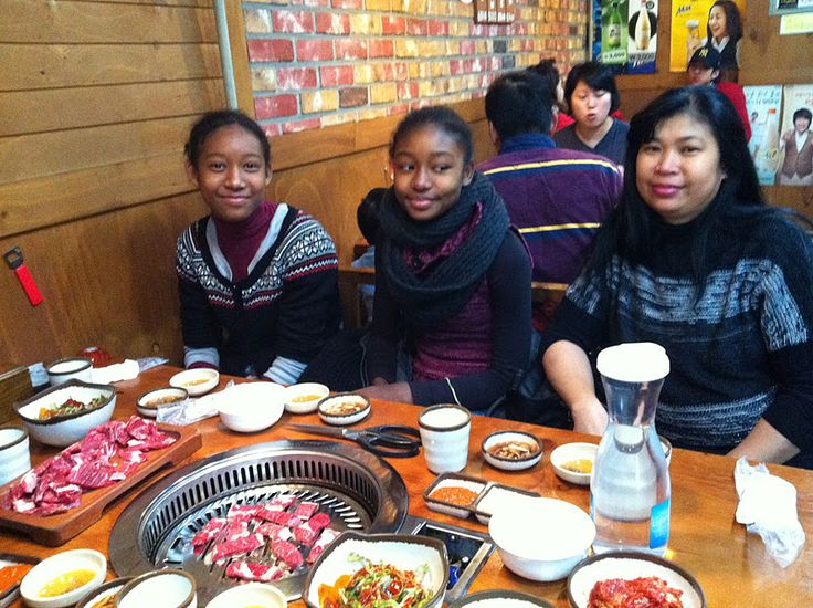 Black Family BBQ In Korea | We snacked at the party since we were going to dinner afterwards. We ...