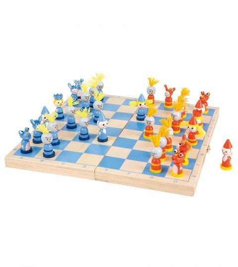 Pull your socks as you compete to win. Check and Mate with Legler's Chess Game. Crafted with wood, it is a real fun game which incorporates thinking skills and induce sportsmanship in kids at an early age. Chess Knight Game is a set of 32 pieces with a wooden board. It is easy to carry along on the trips with a wooden case. Travelling will be no more boring with this amazing chess game. Perfect for kids with Age 7 years or more.