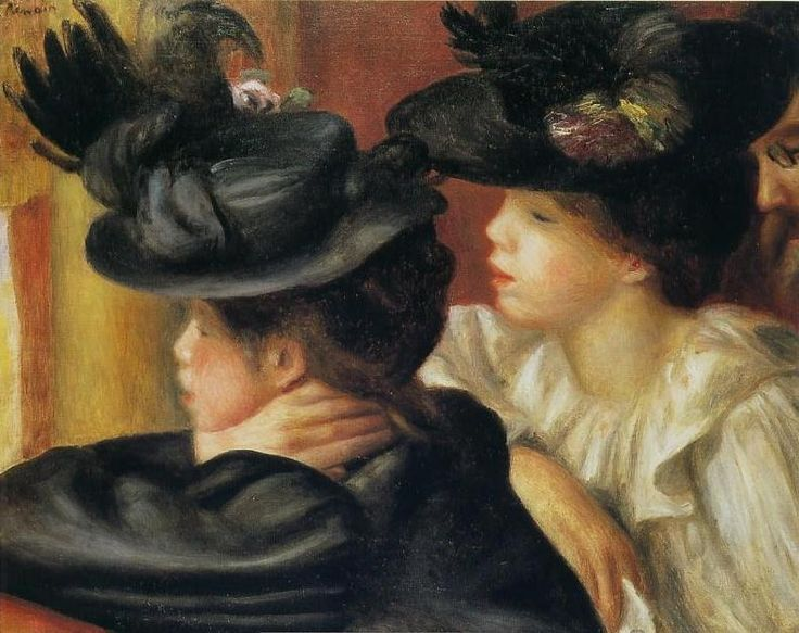 Auguste Renoir Au theatre, la loge