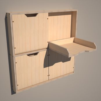 Perfect for storing sandpaper --- Convenient Storage Shelves Woodworking Plan by TIMBERLINE PRE-ENGINEERING