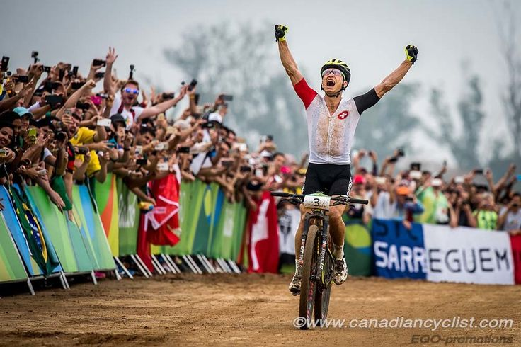 GOLD! Nino Schurter wins men's Olympic MTB cross country race!   RELATED: Why an all mountain bike should be your next purchase - http://roa.rs/2bc0KQs?utm_content=buffer464e5&utm_medium=social&utm_source=pinterest.com&utm_campaign=buffer.   #mountainbiking #olympic #rio2016 #mtb #xc #ninoshurter