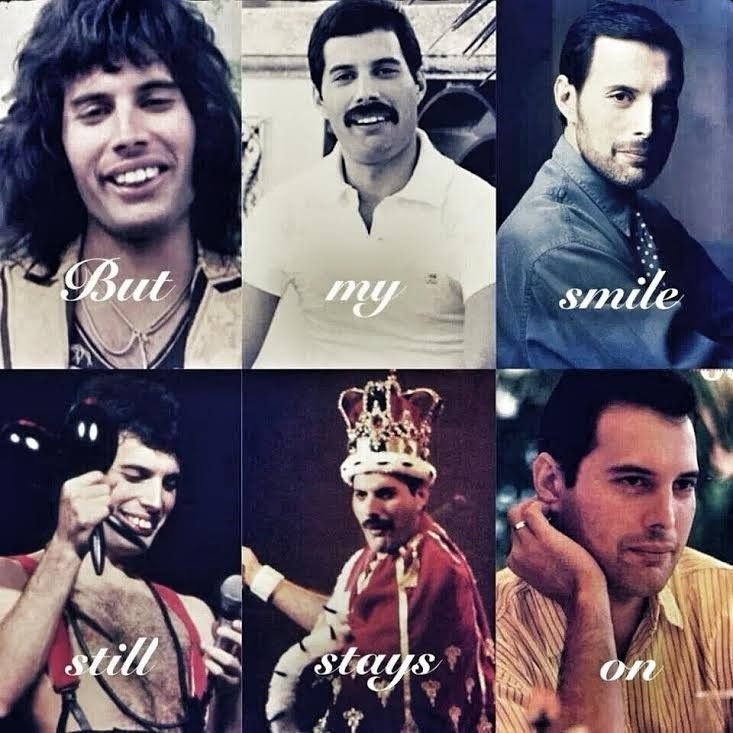 Inside My Heart Is Breaking My Make Up May Be Flaking Breaking Flaking Heart Makeup Queen Freddie Mercury Queen Meme Queen Band
