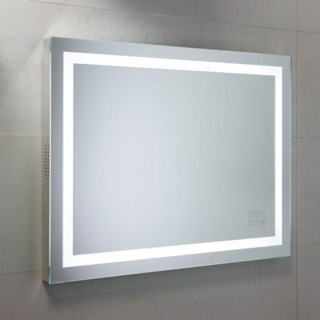 Roper Rhodes Led Illuminated Beat Mirror With Bluetooth Speaker System 800 X 600mm Luxurybath Bathroom Mirror Bathroom Mirrors Uk Bluetooth Bathroom Mirror