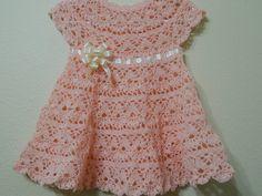 VESTIDO A CROCHET PARA BEBE PASO A PASO CON VÍDEO TUTORIAL | Patrones Crochet, Manualidades y Reciclado