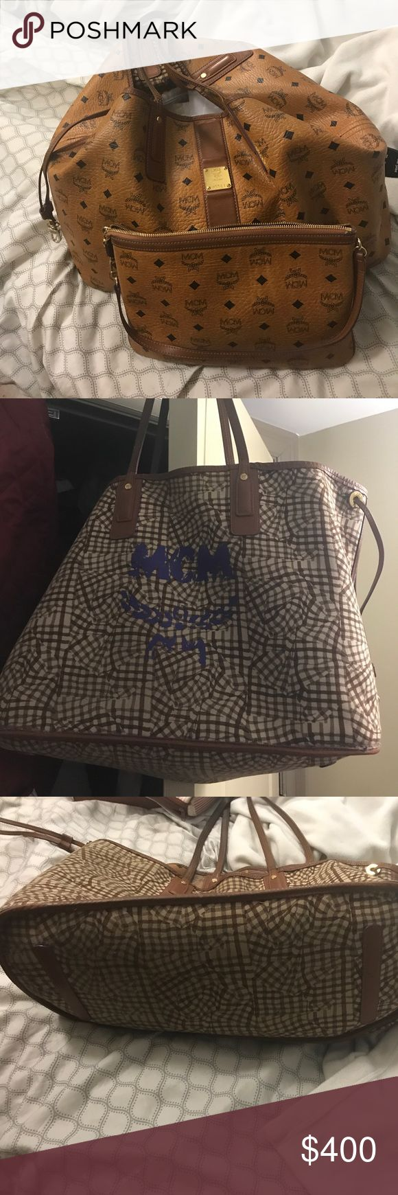 MCM XL MCM XL and clutch  had it for 4 years comes with dust bag and verification and tags original price was $580 plus tax MCM Bags Totes