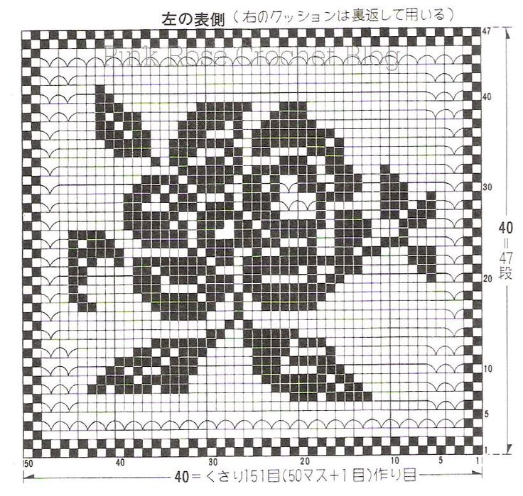 539 best charts for filet crochet images on pinterest crochet filet rose diagram only ccuart Images