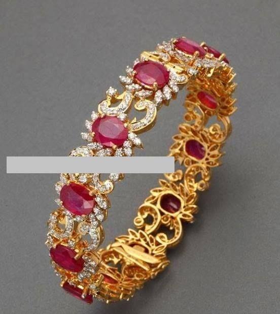 8cc65bd07d9 Diamond and ruby bangles | Bangles/Bracelets/Kada in 2019 | Jewelry, Gold  bangles, Ruby bangles