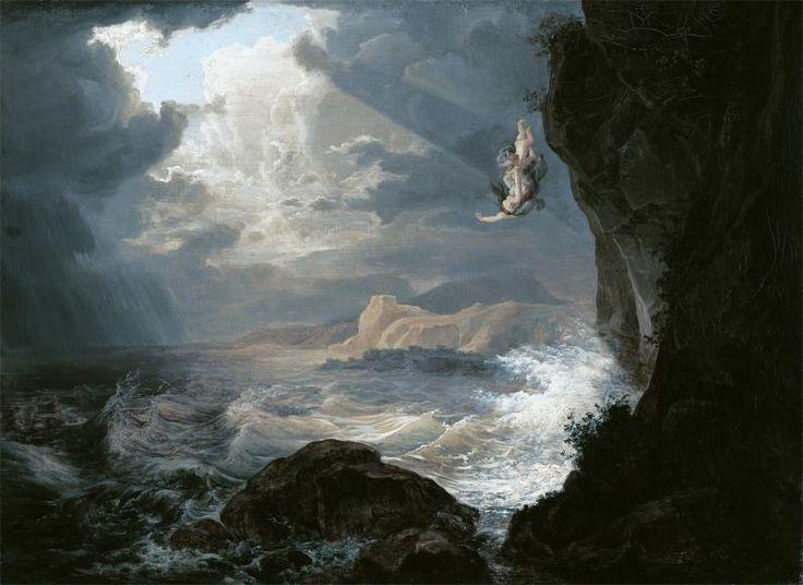 id. Markó Károly: Inó és Melikertész a tengerbe zuhan (1830)