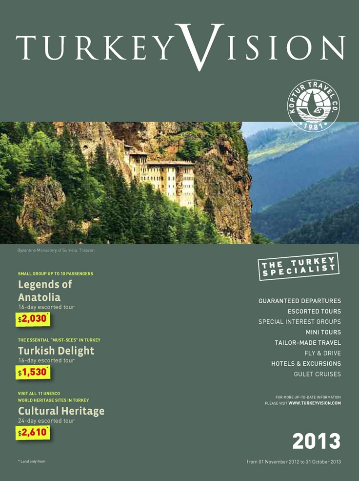 TurkeyVision 2013 Travel Catalogue is available now