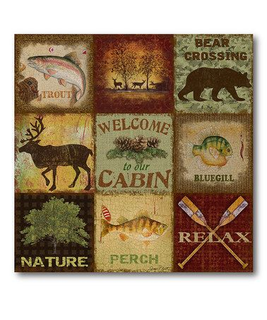 Another great find on #zulily! Cabin Life Wrapped Canvas #zulilyfinds