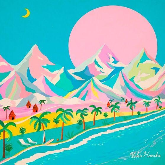 80's inspired art by Yoko Honda -