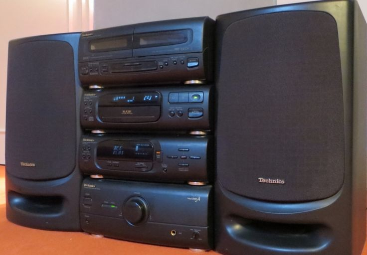 chaine hifi technics sc ch404 2 x 40 w ampli lecteur cd platine cassette tuner enceintes. Black Bedroom Furniture Sets. Home Design Ideas