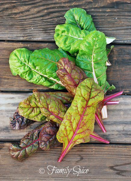 Swiss Chard for Baked Swiss Chard Chips by FamilySpice.com