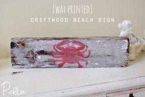 Wax Printed Beach Sign – DIY-Projekte zum Geldverdienen – Große DIY-Ideen   – Mine