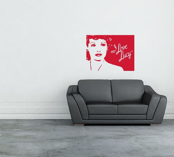 I Love Lucy Inspired Art For A Wall Or Any Smooth Surface Cut Decal