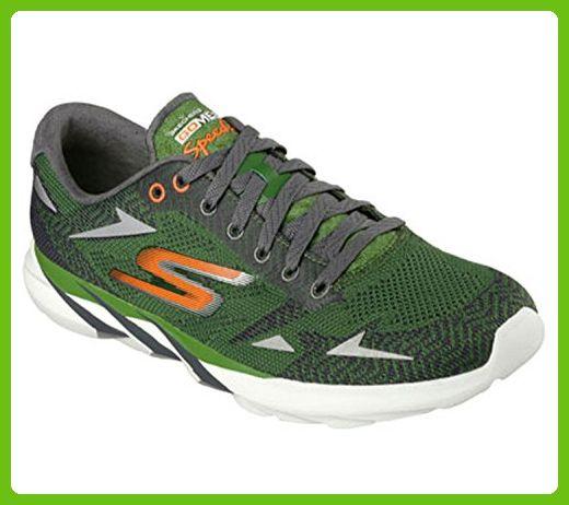 Skechers Mens GOmeb Speed 3 2016 Running Shoe,Green/Orange,US 8.5 M